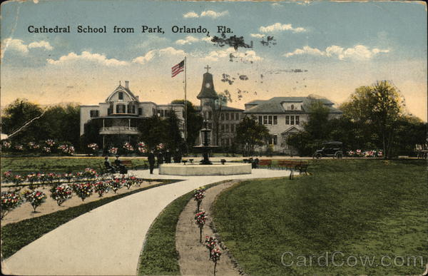 Cathedral School from park Orlando Florida