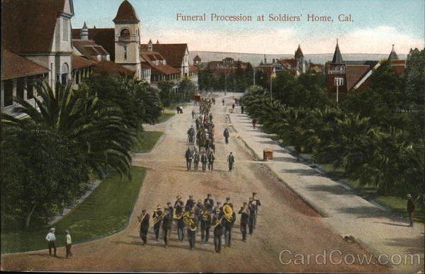 Funeral Procession at Soldiers' Home Los Angeles California