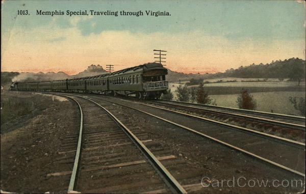 Memphis Special Traveling Through Virginia Trains, Railroad