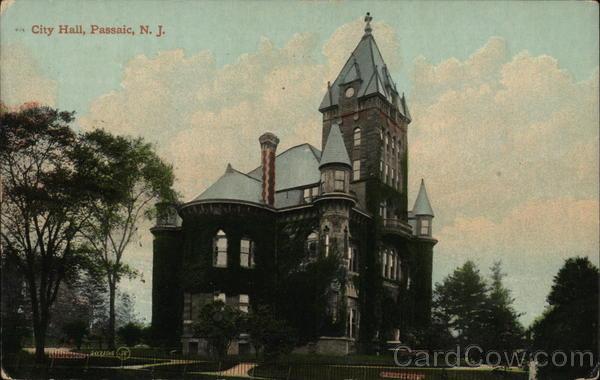 Passaic New Jersey City Hall General Exterior View Antique