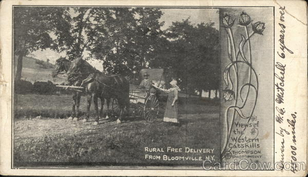 Rural Free Delivery Bloomville New York Postal