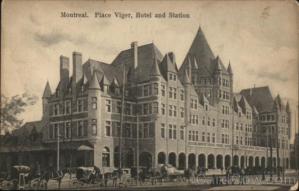 Place Viger, Hotel and Station Montreal Canada Quebec