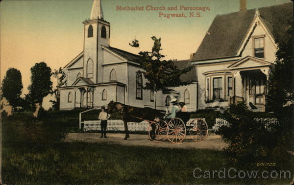 Methodist Church and Parsonage Pugwash Canada Nova Scotia
