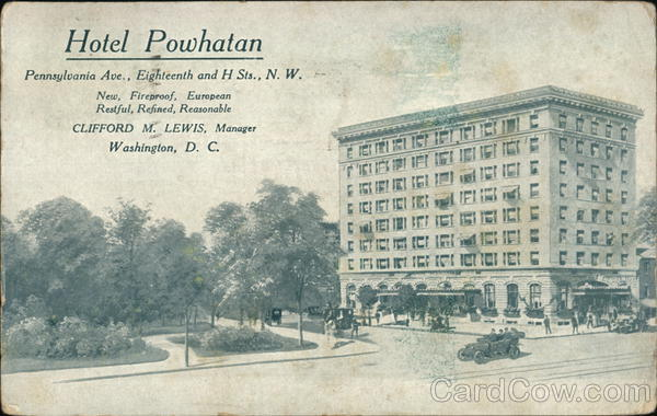 Hotel Powhatan Washington District of Columbia