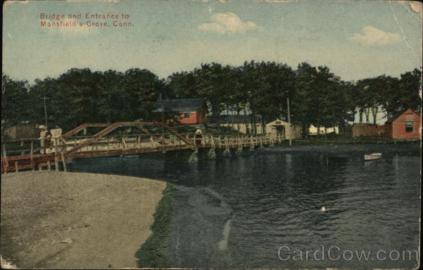 Bridge and Entrance to Mansfield's Grove East Haven Connecticut