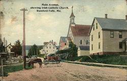 Main Avenue, Showing Irish Catholic Church
