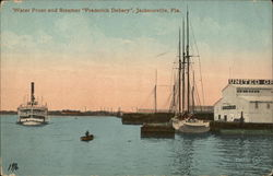 "Water Front and Steamer ""Frederick Debary"""