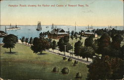Hampton roads Showing the Harbor and Casino
