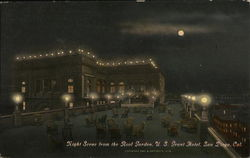 U. S. Grant Hotel - Night Scene from Roof Garden