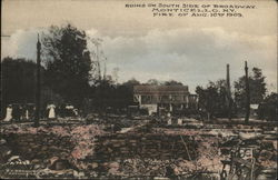 Ruins of South Side of Broadway - Fire, Aug 10th 1909