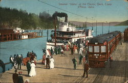 "Steamer ""Idaho"" at the Electric Dock"