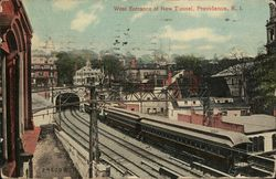 West Entrance of New Tunnel Postcard