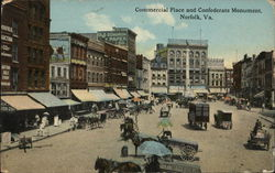 Commercial Place and Confederate Monument