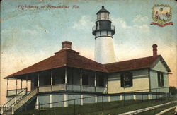 Lighthouse Fernandina Beach, FL Postcard