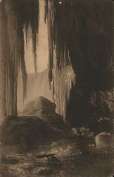 Ice Grotto Under Horseshoe Fall Postcard