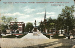 View from Capitol Building Showing Hartranft Monument