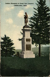 Soldiers Monument in Grand View Cemetery