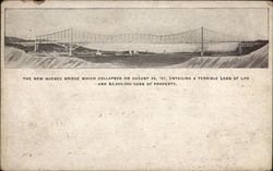 The New Quebec Bridge Postcard