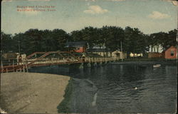 Bridge and Entrance to Mansfield's Grove Postcard