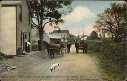 Street Scene at the Ashokan District Near Brown's Station