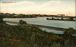 View of Harbor Postcard