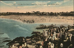 Bird's Eye View Rocks & Beach from Young's Hotel Postcard