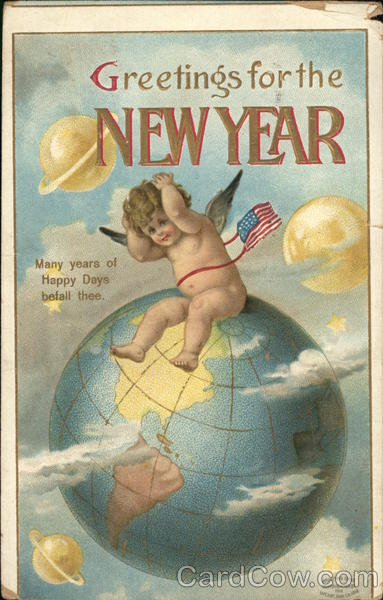 Greetings for the New Year Angels & Cherubs