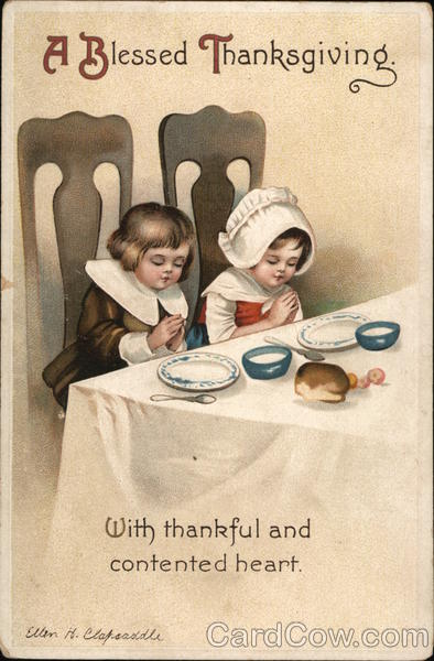 A Blessed Thanksgiving Ellen Clapsaddle Children
