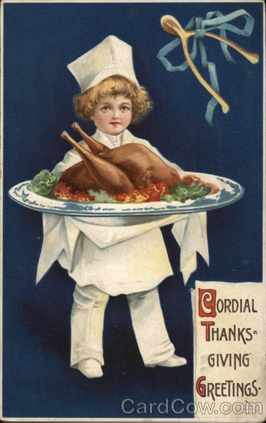 Cordial Thanksgiving Greetings Ellen Clapsaddle Children