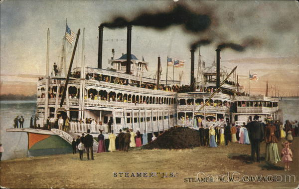 Steamer J.S., Steamer W.W. and Barge Steamers
