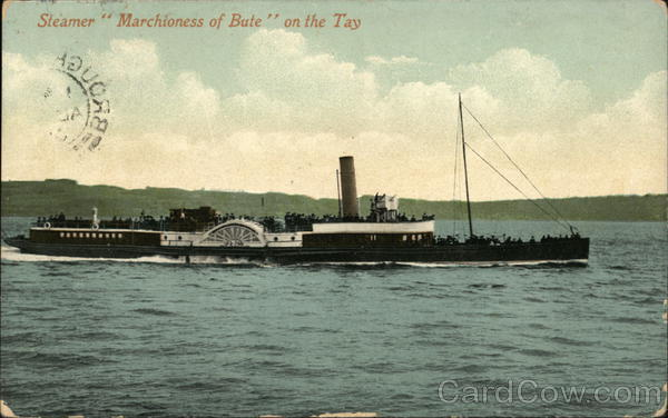 Steamer Marchioness of Bute on the Tay Steamers