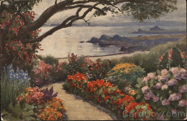 A Garden by the Silvery Sea Monterey California Art