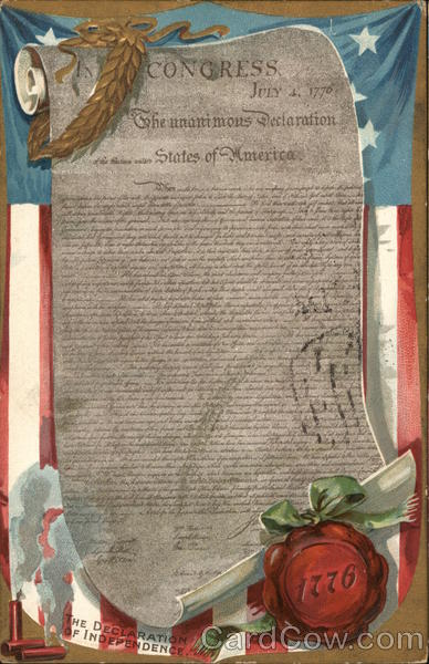 The Declaration of Independence 1776 Patriotic