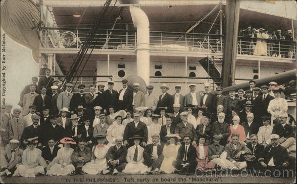 In the Phillipines - The Taft Party On Board the Manchuria