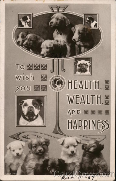 To Wish You Health , Wealth and Happiness Dogs Puzzles