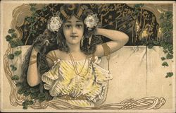 Art Nouveau Portrait of Girl