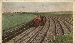 Allis-Chalmers Tractor Plowing a Field