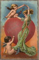 Woman with Cupids
