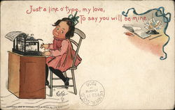 Just A Line o' Type, My Love Postcard