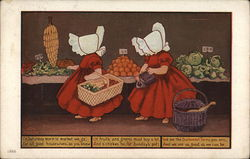 Sunbonnet Twins - On Saturday morn