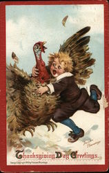 Thanksgiving Day Greetings Postcard