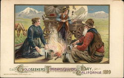 Goldseekers Thanksgiving Day, California 1849