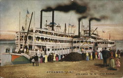 "Steamer ""J.S."", Steamer ""W.W."" and Barge"
