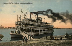 Steamer G.W. Hill on Mississippi River