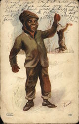 Black Boy Catching Rabbit