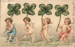 For Angels Holding Shamrocks