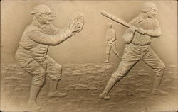Baseball Images - Embossed