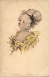 Portrait of Woman with Ribbon in Hair