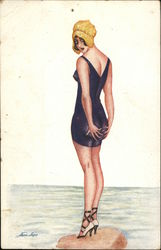 Drawing of Woman in Bathing Suit