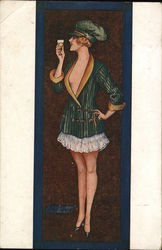 Portrait of Woman in Slip and Jacket